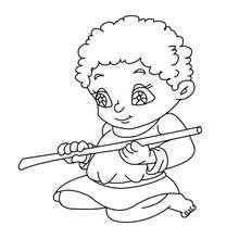 Dibujos Para Colorear Una Niña Con Elniño Jesus Eshellokidscom