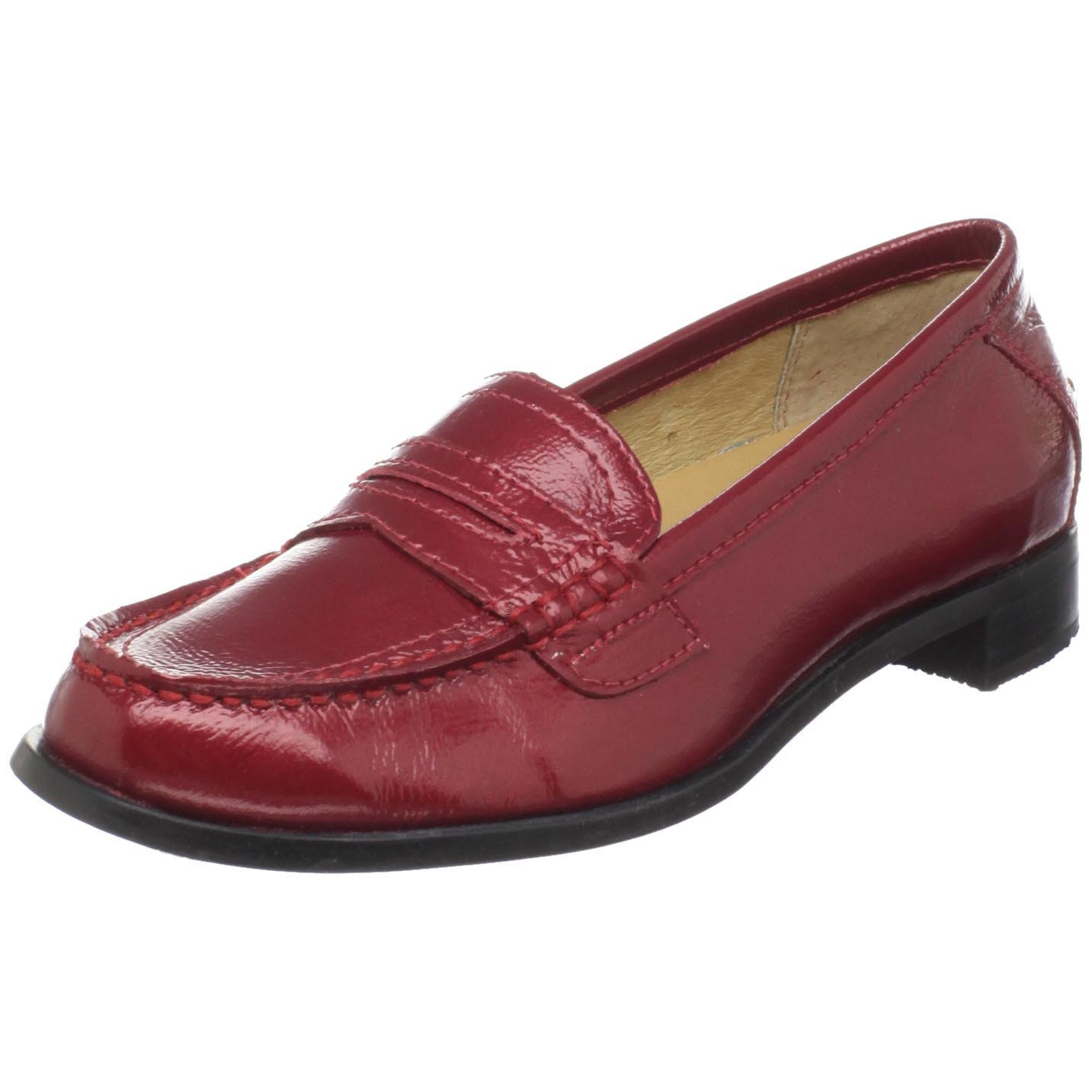 Sebago Womens Cami Penny Loafer in Brown (red patent) | Lyst