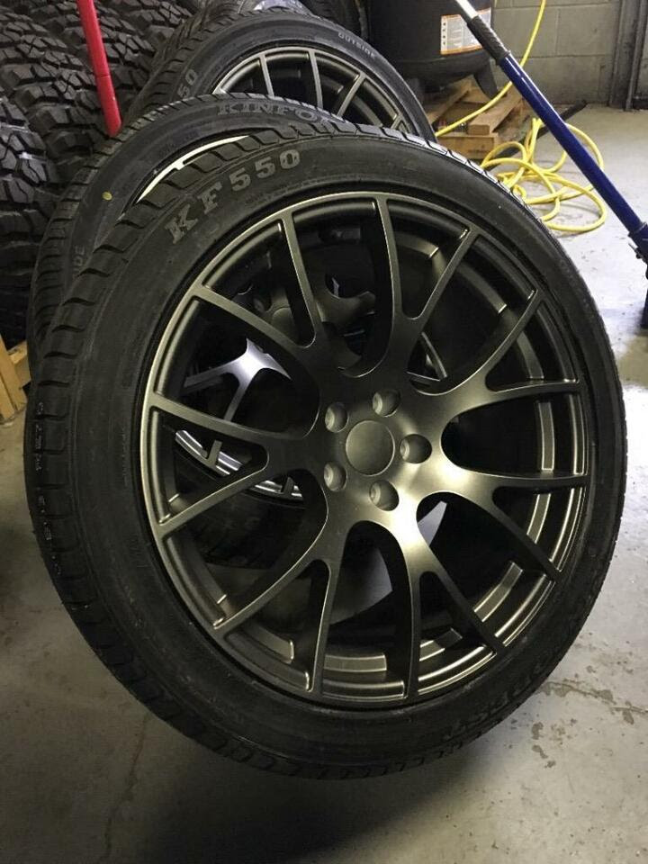 20 Inch Hellcat Reps 275  R20 Tires Staggered 5x115 Tires Rims