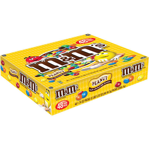 M&M's Chocolate Candies, Peanut - 48 packs, 1.74 oz each