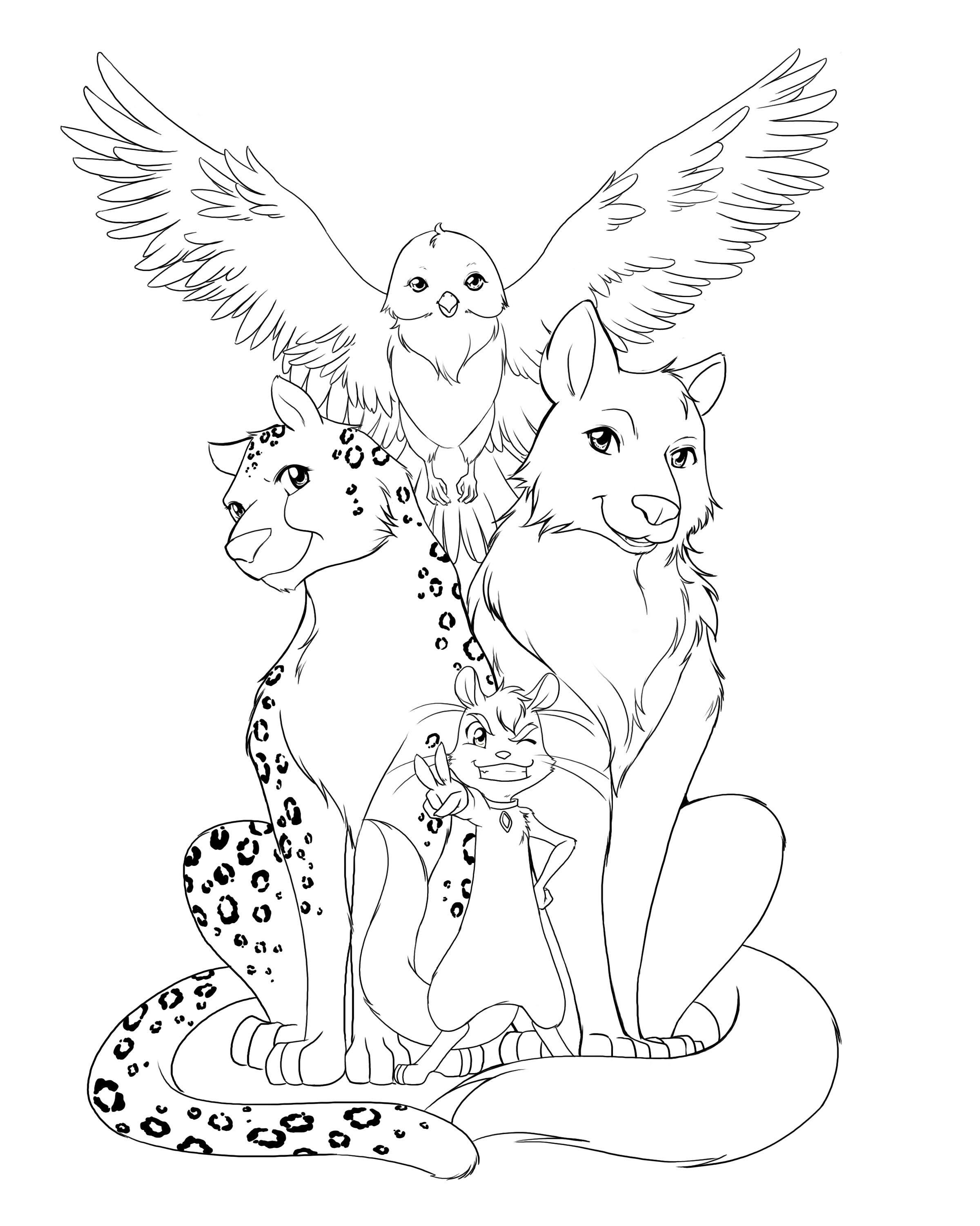 53 Adult Coloring Pages Animals 9073 Adult Coloring Animals