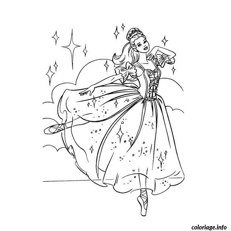 Barbie Danseuse Coloriage Entre Danse
