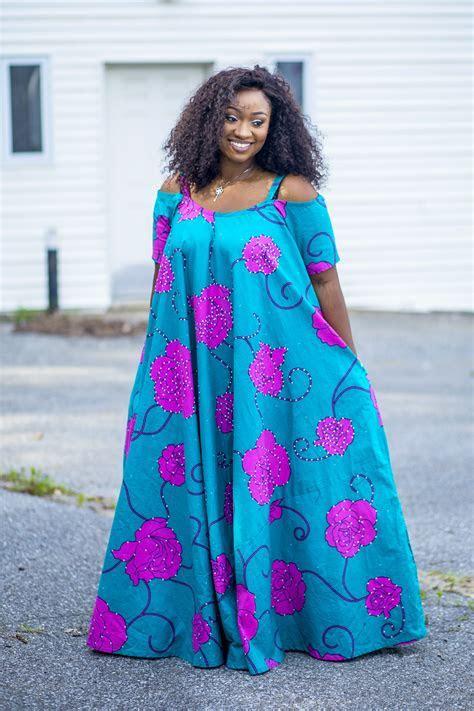 Plus size DIY ankara style. Full flare maxi dress   Plus