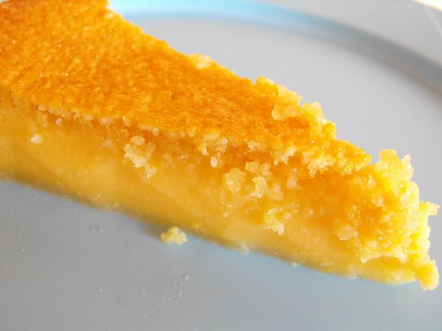 Queijada de limão com amêndoa