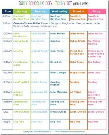 1000+ ideas about School Schedule Printable on Pinterest ...