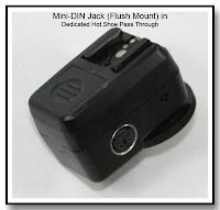 OC1024: Mini-Din (Flush Mount) in a Dedicated Hot SHoe Pass Through Unit