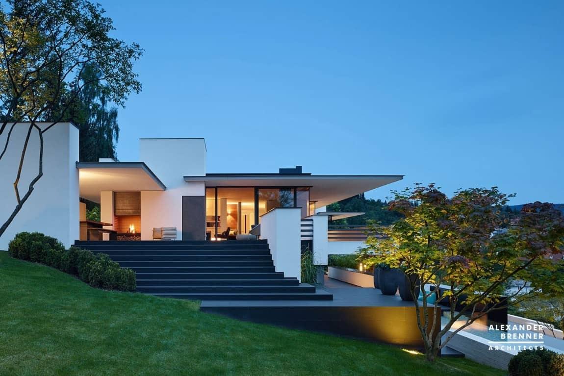 7 contemporary house park setting views