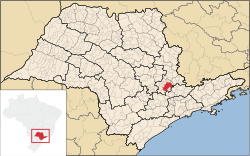 Location of Campinas