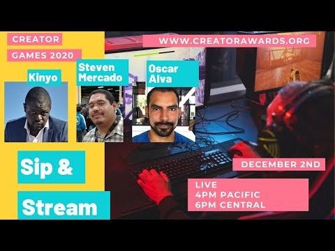 Oscar Alva, Steven Mercado, Kinyo - Sip & Stream (Creator Games 2020)