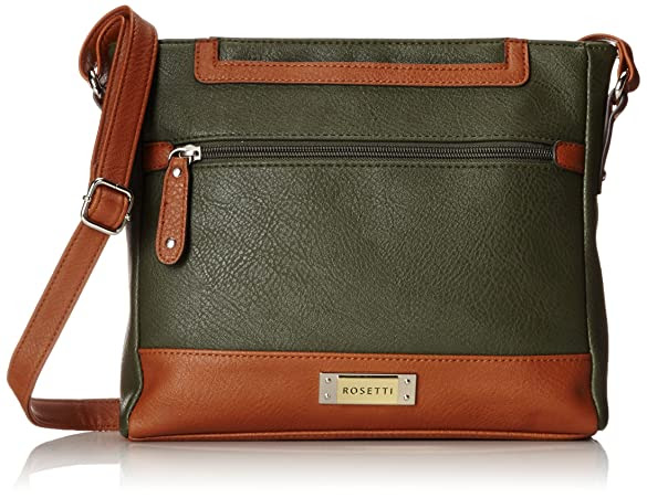 Rosetti Presley Mid Two Tone Cross Body Bag, Rosemary, One Size