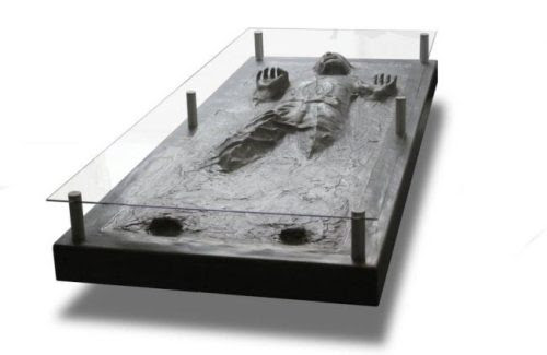 I want this Han Solo in Carbonite coffee table and...