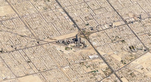 Slightly Tilted Satellite Images Of Cities Will Make You Feel So Very Small - Digg
