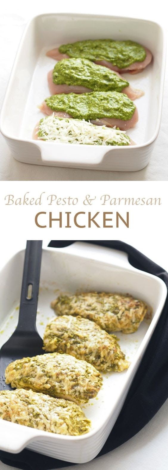 Baked pesto parmesan chicken