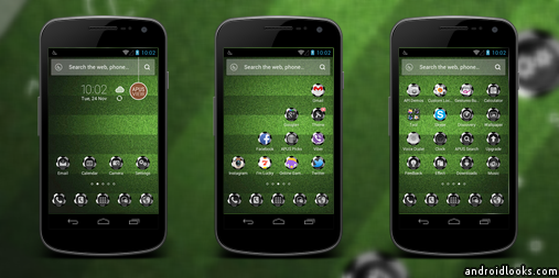 Football Tornado Android Theme For APUS Launcher