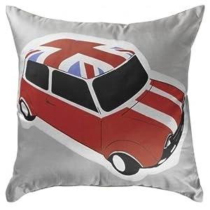 coussin voiture mini drapeau anglais deco londres. Black Bedroom Furniture Sets. Home Design Ideas