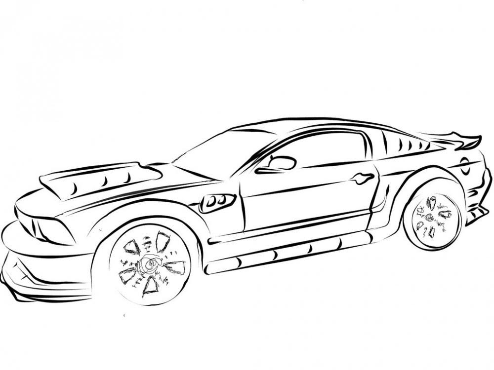 Muscle Car Coloring Pages  AZ Coloring Pages