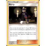 Pokemon Lost Thunder Uncommon Morty #186