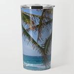 Serene Caribean Beach Scene Travel Coffee Mug by Svenbro - 20 oz