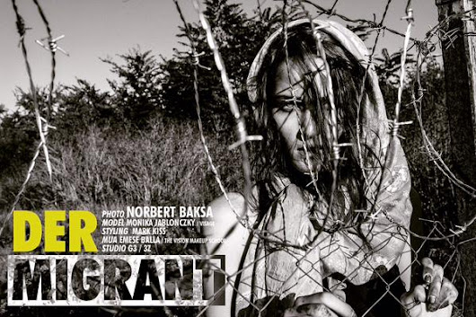 Hungarian photographer Norbert Baksa blasted for 'refugee chic' fashion shoot featuring Monika Jablonczky
