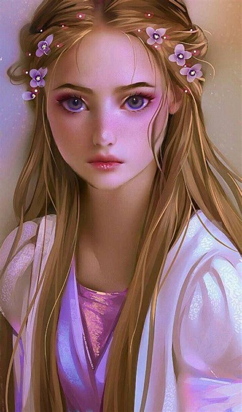 beautiful rapunzel drawing disney fan art kawaii girl