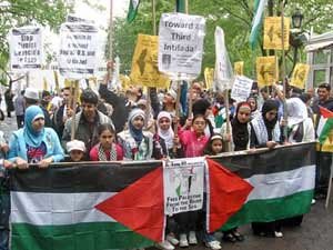 Demonstration in New York on May 15, 2011, the 63rd anniversary of the founding of the State of Israel, Al- Nakba. There were demonstrations held throughout the world including in Palestine. by Pan-African News Wire File Photos