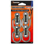 """Keeper 04522 Wire Ring With Bracket Anchor Point, 1-1/2"""", 4-pack"""