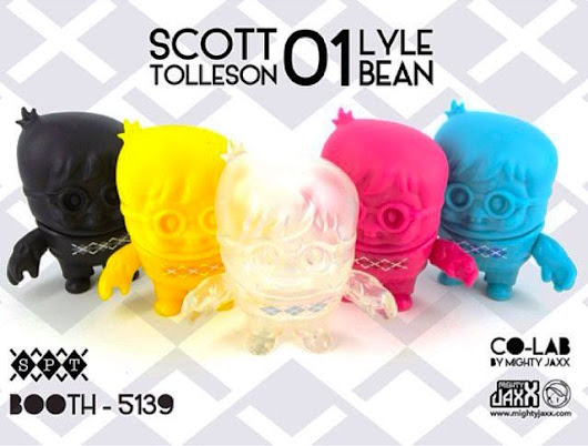 "SpankyStokes.com | Vinyl Toys, Art, Culture, & Everything Inbetween: Scott Tolleson x Mighty Jaxx - SDCC 2014 debut of the CMYK Edition ""LYLE BEAN"" CO-LAB series!!!"