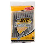 Bic Round Stic Classic Ballpoint Pen Medium Point, Black- 10 Ea