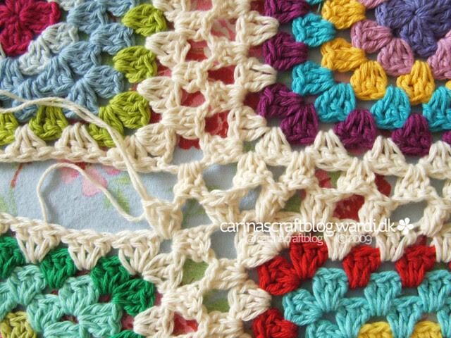 Crochet tutorial: joining granny squares 16