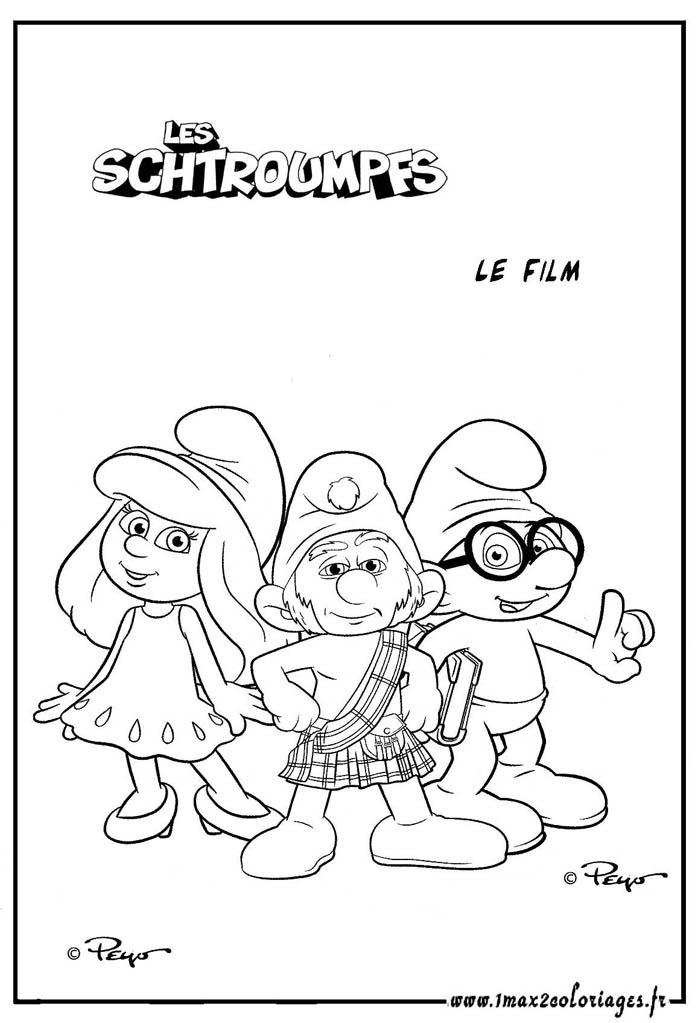 Coloriages Du Film Les Schtroumpfs La Schtroumpfette Le Schtroumf