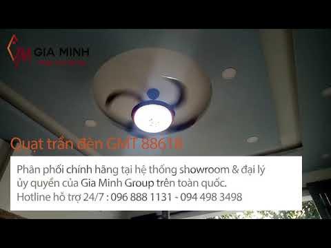 Video thực tế quạt trần đèn GMT CD88618