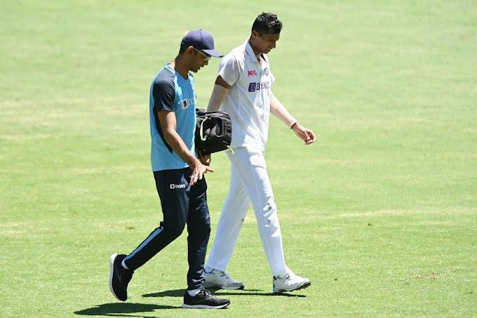 India vs Australia: Navdeep Saini Unable to Bowl on Day 2 of Brisbane Test