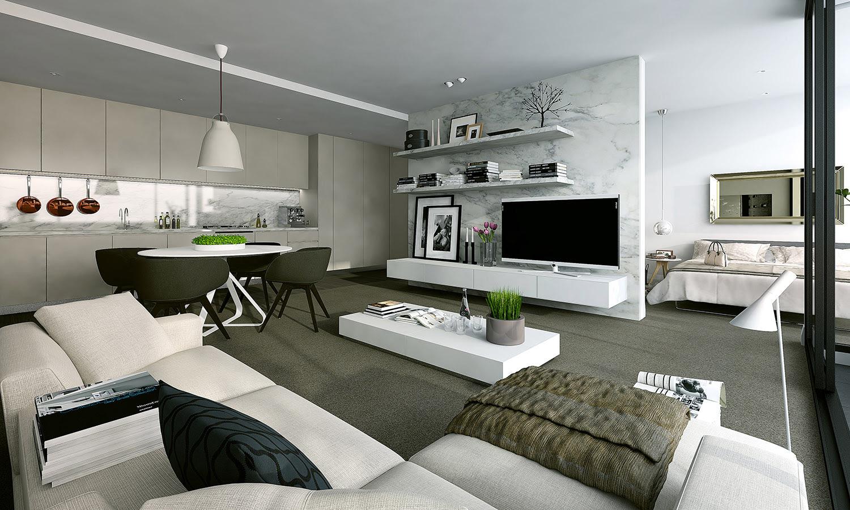 Studio Apartment Modern Design Ideas Design Rumah