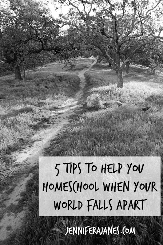 5 Tips to Help You Homeschool When Your World Falls Apart - Jennifer A. Janes