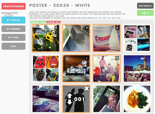 Printstagram: New Poster Instagram Photo Picker by stevegarfield