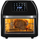 Best Choice Products 16.9qt 1800W 10-in-1 Family Size Air Fryer Countertop Oven, Rotisserie, Toaster, Dehydrator - Black SKY5431