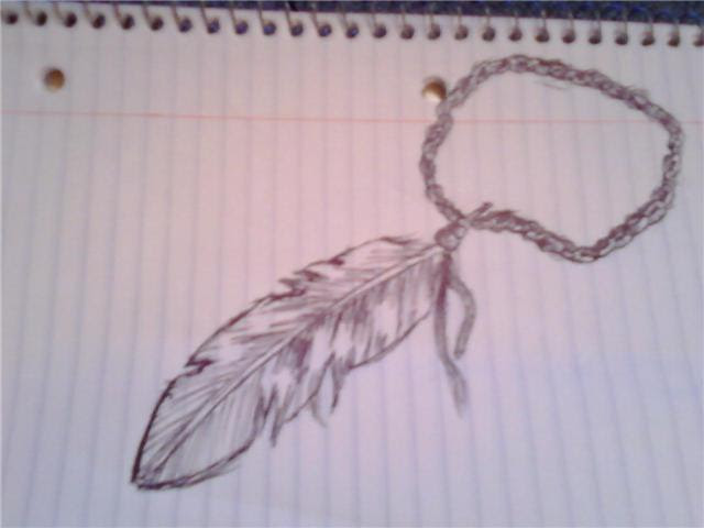Feather Rosary Ankle Tattoo Design
