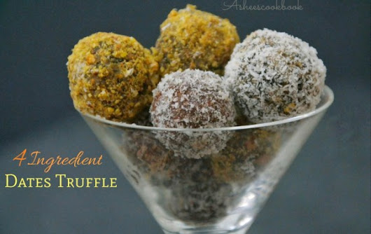 3 Ingredient Dates Truffles
