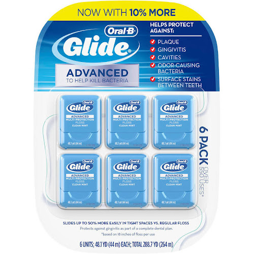 New Oral B Glide Pro-Health Advanced Multi-Protection Floss Pack of 6