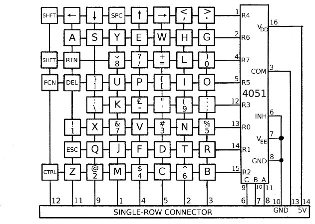 Computer Keyboard Wiring Diagram