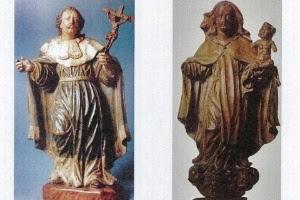 Imagens de São Luiz Rei de França e Nossa Senhora do Carmo, atribuídas à Aleijadinho