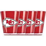 Duckhouse Dhfbkansh4 Kansas City Chiefs 4 Piece Shot Glass Set
