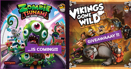 As Zombie Tsunami Approaches the Vikings Gone Wild Giveaway is a Fact! - BoardGame Stories