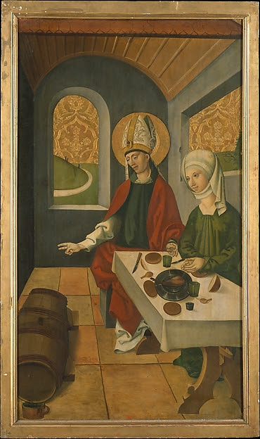 Saint Remigius Replenishing the Barrel of Wine; (interior) Saint Remigius and the Burning Wheat