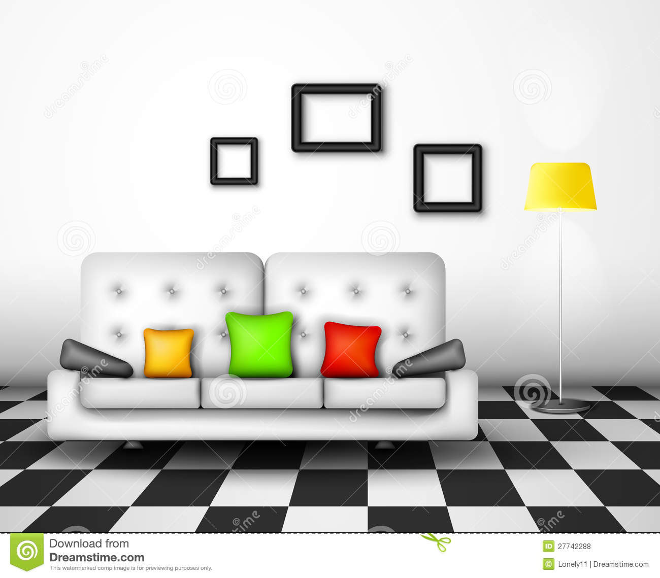 Vector Interior Design Royalty Free Stock Photos Image: 27742288 - Bedroom Interior Design Vector 02 Free Download