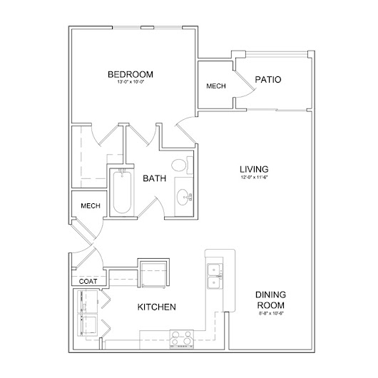 Floor Plans for The Park at Southwood Apartments in Tallahassee
