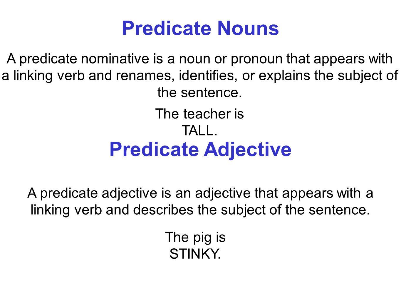 Predicate+Nouns+Predicate+Adjective