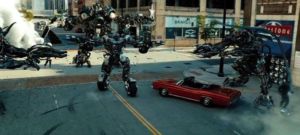 Ironhide and Sideswipe take on Crowbar and Crankcase, two other Decepticon Dreads, in TRANSFORMERS: DARK OF THE MOON.