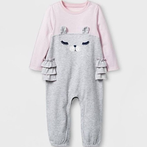 17e24e068 Baby Girls' Romper - Cat & Jack Heather Gray 3-6M - Google Express