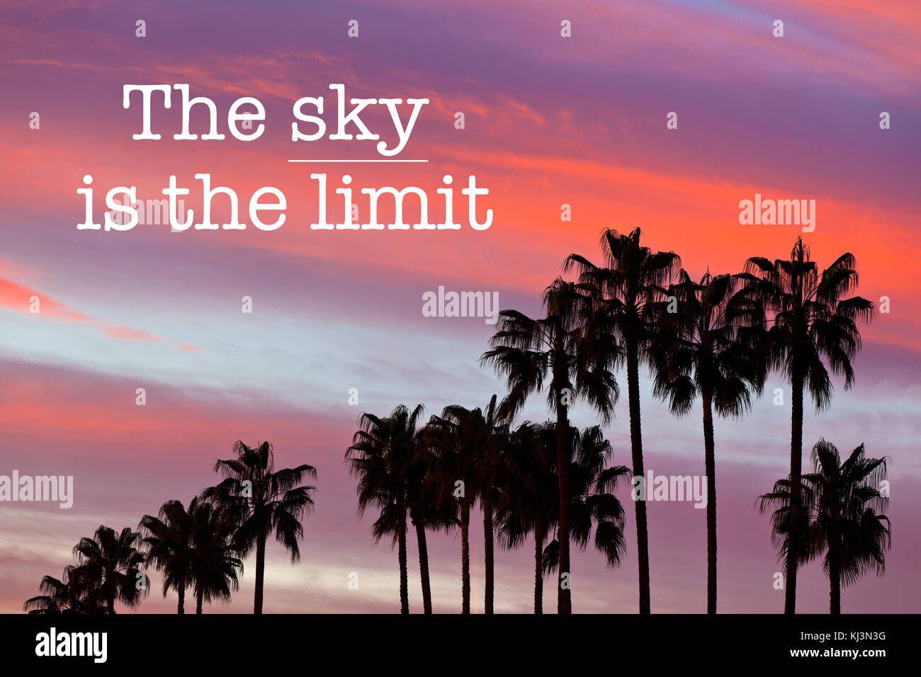Inspirational Motivation Quote With Phrase The Sky Is The Limit